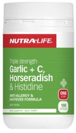TRIPLE STRENGTH GARLIC + C HORSERADISH AND HISTIDINE