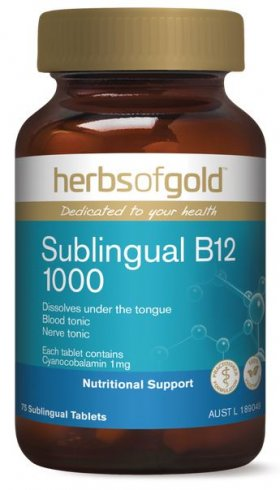 HERBS OF GOLD ACTIVATED B12
