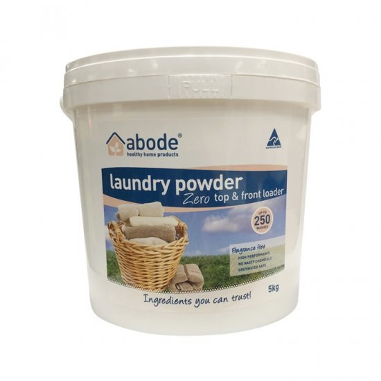 Abode Laundry Powder (Front and Top Loader) Zero 5kg Bucket