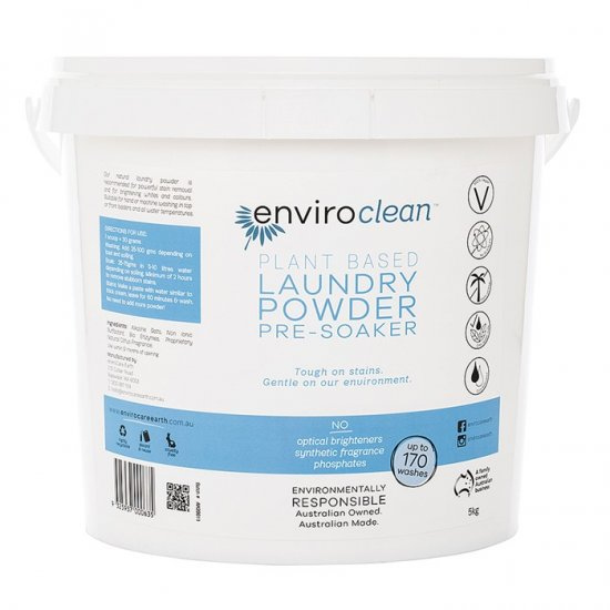 Enviroclean Laundry Powder and PreSoaker 5kg Bucket