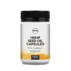 Essential Hemp Hemp Seed Oil and Turmeric Capsules 100c