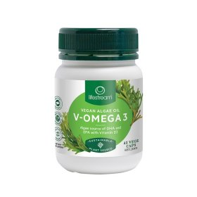 LifeStream V Omega 3 (Algae Source DHA EPA and Vit D3) 45vc