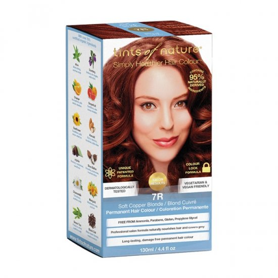 Tints of Nature Permanent Hair Colour Soft Copper Blonde 7R