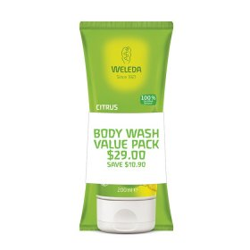 Weleda Duo Body Wash Citrus 200ml x 2 Pack