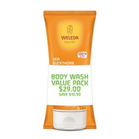 Weleda Duo Body Wash Sea Buckthorn 200ml x 2 Pack