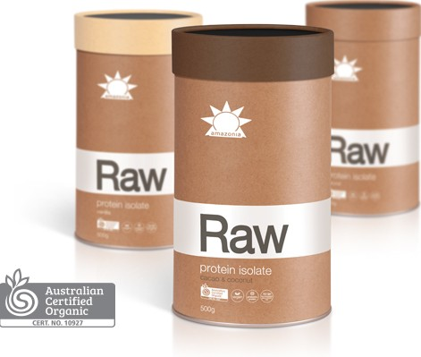 RAW PROTEIN ISOLATE CACAO & COCONUT FLAVOUR 500g